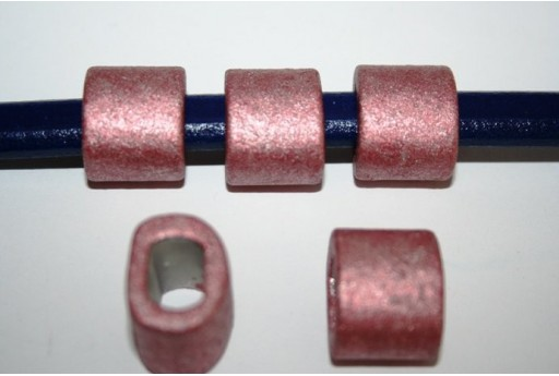 Perline Ceramica Regaliz 18x16mm, Rosa 2pz., Cod.CER6C