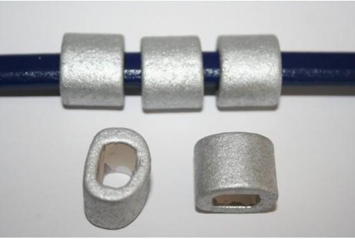 Perline Ceramica Regaliz 18x16mm, Argento 2pz., Cod.CER6E