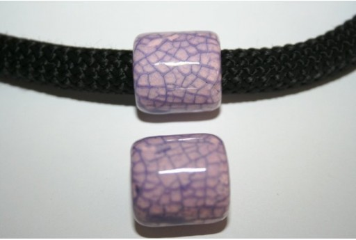 Climbing Ceramic Slider Bead 19X20mm Lilac - 1pc