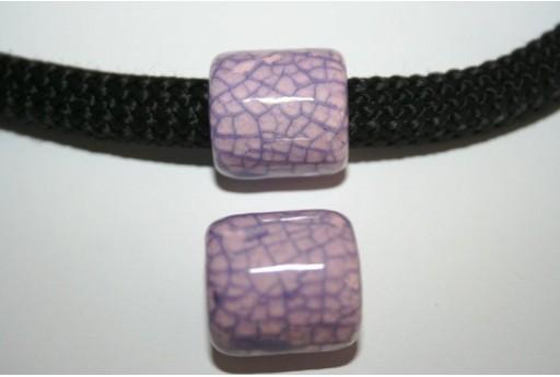 Perlina Climbing Ceramica 19X20mm, Lilla 1pz., Cod.CC-107A