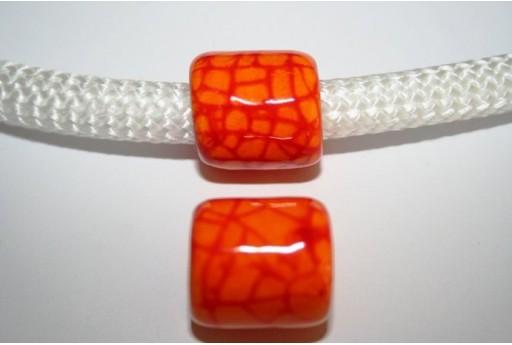 Perlina Climbing Ceramica 19X20mm, Arancio 1pz., Cod.CC-107B