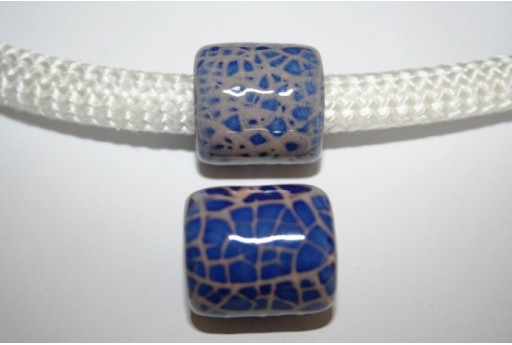 Climbing Ceramic Slider Bead 19x20mm Blue - 1pc
