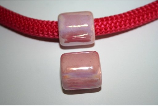 Climbing Ceramic Slider Bead 19X20mm Pink - 1pc