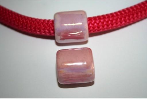 Perlina Climbing Ceramica Rosa 19X20mm - 1pz