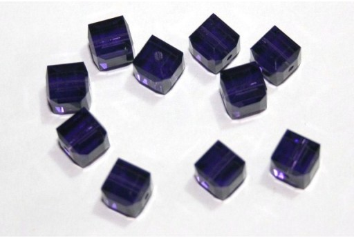 Swarovski Cubes Purple Velvet 6mm - 2pcs
