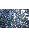Matubo Beads Opaque Blue Picasso Silver 7/0 - 10g