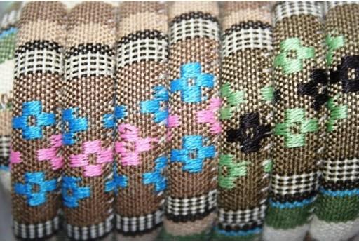 Ethnic Oval Cotton Cord 7x9mm Light Brown - 50cm COR06E