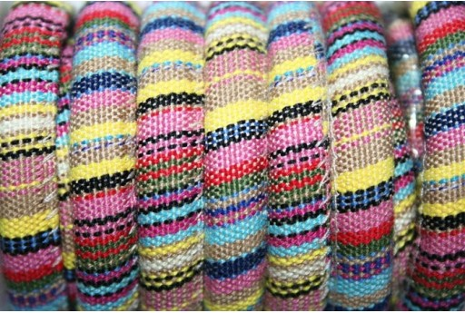 Ethnic Oval Cotton Cord 7x9mm Pastel Colours - 50cm COR06M