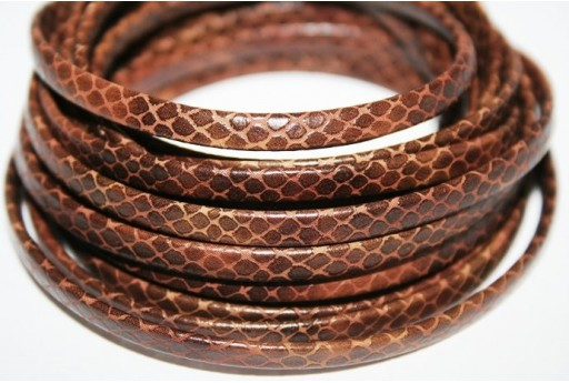 Brown Flat Faux Leather Cord 5mm - 50cm COR05L