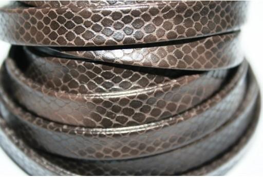 Cuoio Sintetico Piatto 10mm, Marrone 50cm., Cod.COR07C
