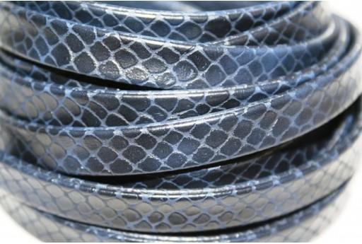 Cuoio Sintetico Piatto 10mm, Blue 50cm., Cod.COR07F