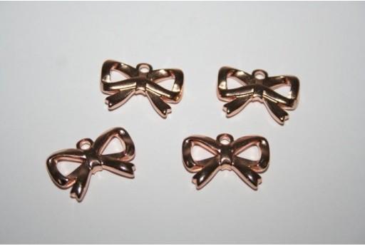 Pendente Fiocco 20x13mm, Colore Oro Rosa 1pz., Cod.MIN201