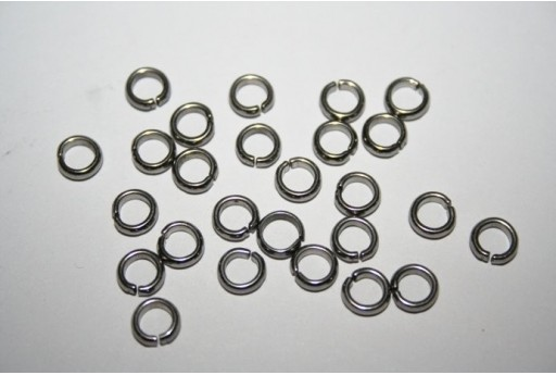 Stainless Steel Jump Rings 6X2mm - 10pcs