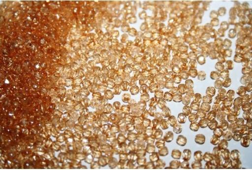 Perline Mezzi Cristalli Luster-Transparent Champagne 2mm - 80pz