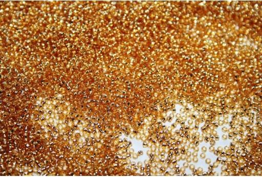 Perline Toho Round Rocailles 15/0, 10gr. Silver-Lined Med Topaz