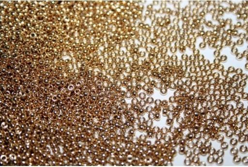 Perline Miyuki Round Rocailles 24Kt Gold Plated 11/0 - 5gr