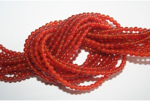 Cornelian Beads Sphere 4mm - 96pz