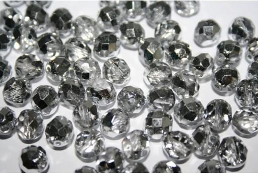 Perline Mezzi Cristalli Silver 1/2 8mm - 25pz