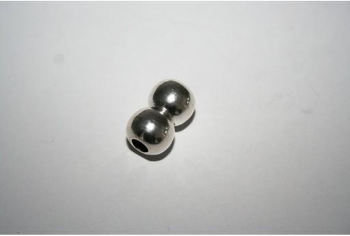 Chiusura Magnetica Ottone 10X8mm, Colore Argento 1pz., Cod.MIN210B