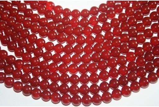 Cornelian Beads Sphere 8mm - 48pz