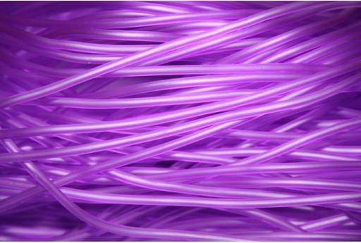 Hollow Rubber Cord Violet 2mm - 4m