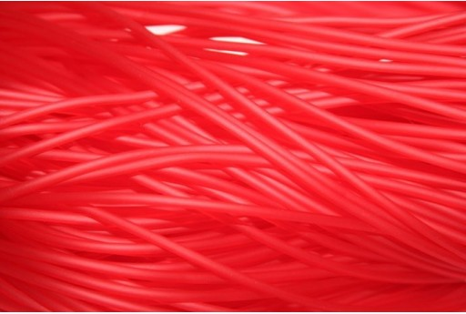 Hollow Rubber Cord Red 2mm - 4m