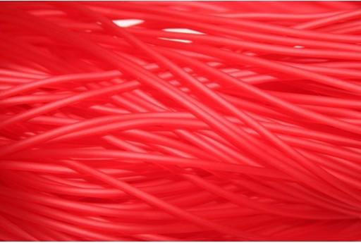 Caucciù Forato Rosso 2mm - 4mt.