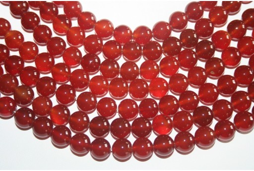 Cornelian Beads Sphere 10mm - 3pz