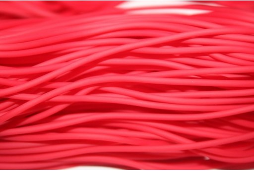 Hollow Rubber Cord Opaque Red 2mm - 4m