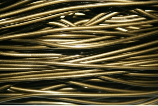 Hollow Rubber Cord Bronze 2mm - 4m