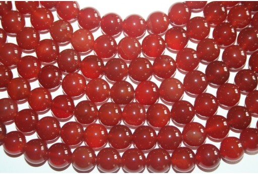 Cornelian Beads Sphere 12mm - 32pz