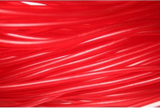 Caucciù Forato Rosso 3mm - 2mt.