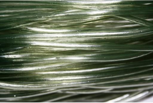 Caucciù Forato Verde Foresta 3mm - 2mt.
