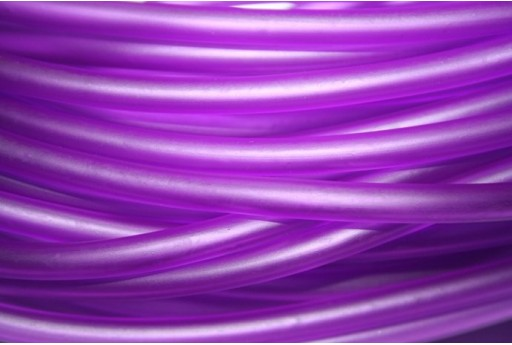 Hollow Rubber Cord Violet 5mm - 1m