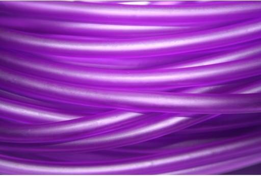 Filo di Caucciù Forato Viola 5mm - 1mt