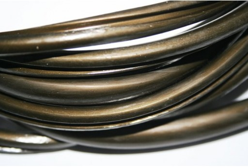 Regaliz Grooved Rubber Cord 9x6mm Bronze - 50cm