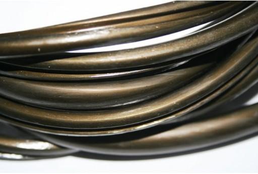 Caucciù Regaliz con Scanalatura Bronzo 9x6mm - 50cm