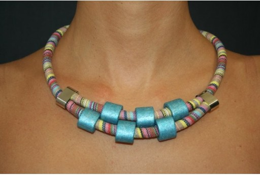Ethnic Cord Turquoise Necklace Kit