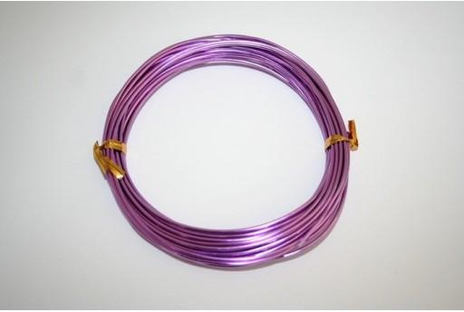 Filo di Alluminio Viola Chiaro 1,5mm - 6mt