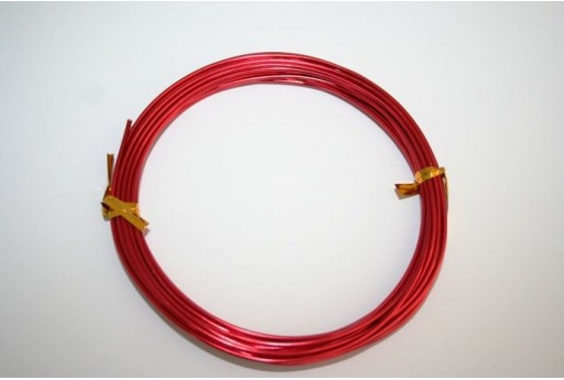 Aluminium Wire 1,5mm Red - 6m