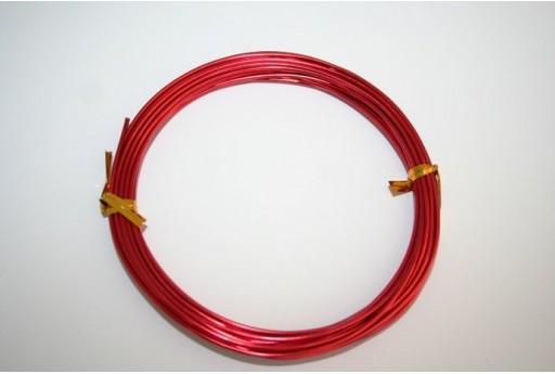 Filo di Alluminio Rosso 1,5mm - 6mt