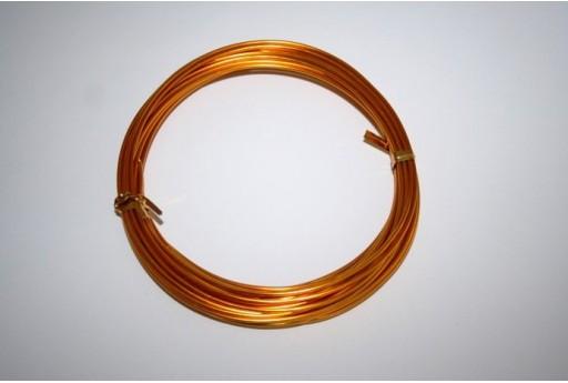 Filo di Alluminio Arancio Chiaro 1,5mm - 6mt