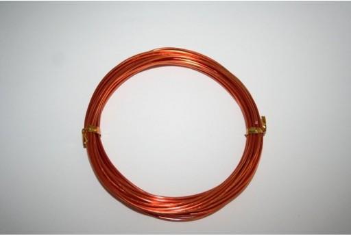 Filo di Alluminio Arancio 1,5mm - 6mt