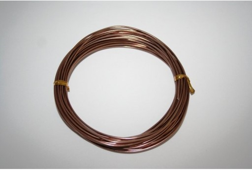 Aluminium Wire 1,5mm Brown - 6m