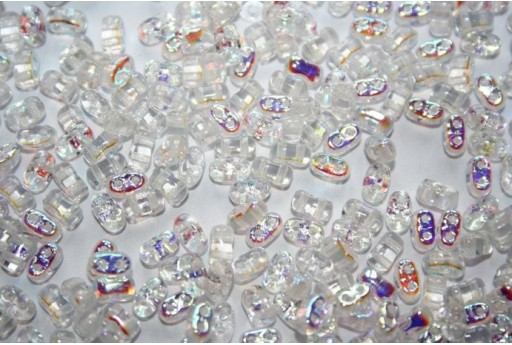 10 Gr.. BI-BO Beads Beads Crystal AB 5, 5 x 2, 8 mm Col. 28701