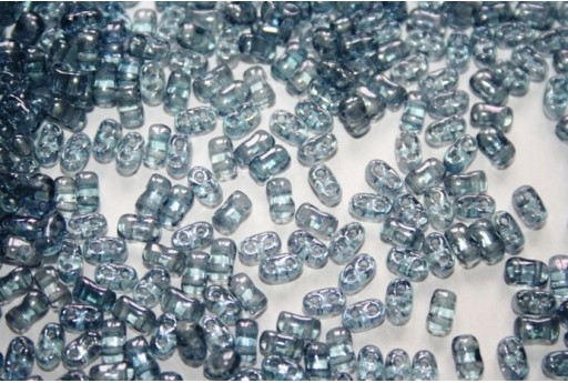 10 Gr.. BI-BO Beads Beads Crystal Blue Luster 5, 5 x 2, 8 mm Col. 14464