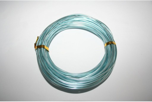 Aluminium Wire 2mm Light Blue- 10m