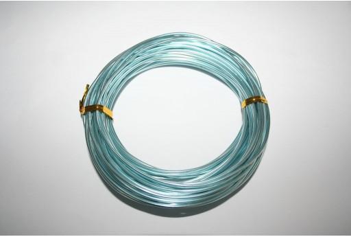 Filo di Alluminio Celeste 2mm - 10mt