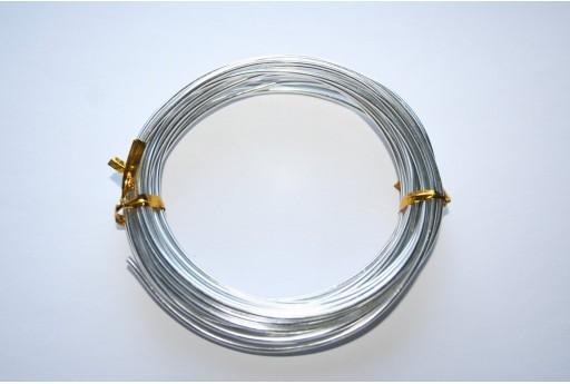 Filo di Alluminio Argento 2mm - 6mt