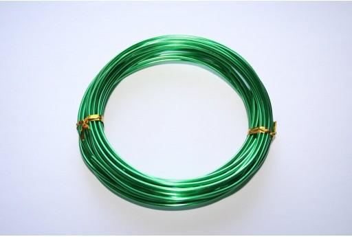 Filo di Alluminio Verde 2mm - 6mt